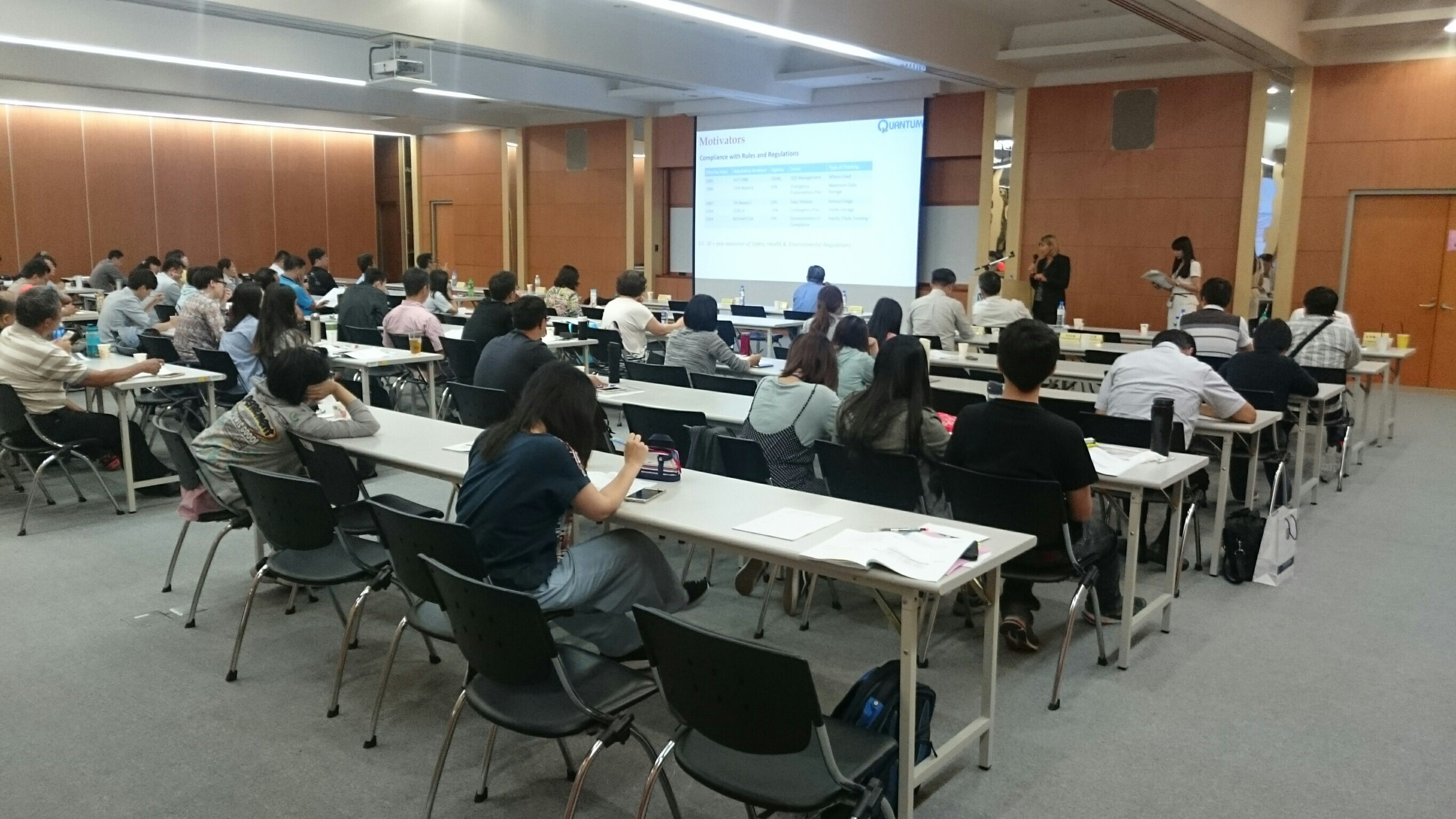 attendees in chemical management seminar