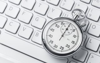 a keyboard and a pocket watch